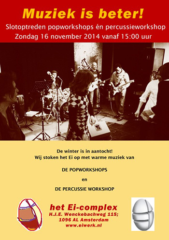 Flyer van slotpresentatie 16 november 2014
