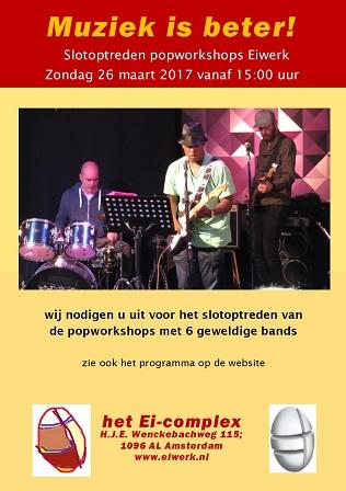 Flyer van de slotpresentatie van 26 maart 2017